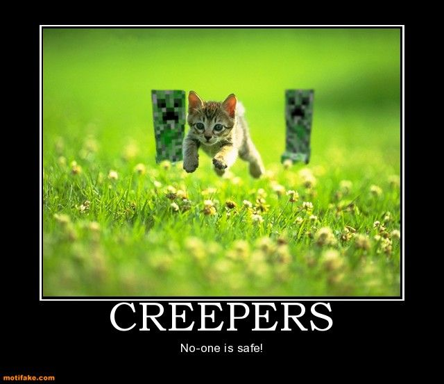 You are here: Home / Minecraft Memes / Minecraft – Creepers, No One ...