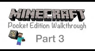 Minecraft Pocket Edition Walkthrough Part 3- Found Iron And Coal!!!!