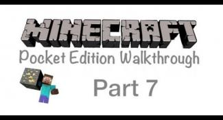 Minecraft Pocket Edition Walkthrough Part 7- Chopping Some Wood