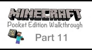 Minecraft Pocket Edition Walkthrough Part 11- Found Gold Finally