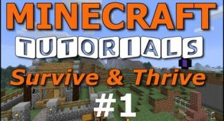 Minecraft Tutorials – E01 How to Survive your First Night (UPDATED!)
