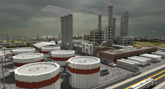 Minecraft Oil Refinery Looks So Real You Can See the Pollution