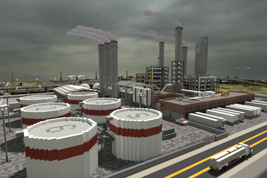 Minecraft Oil Refinery