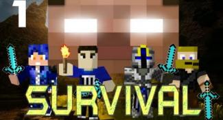 MULTIPLAYER MINECRAFT SURVIVAL w/ Minefirecharger & Friends! : Part 1 – Throw Me The Rope!