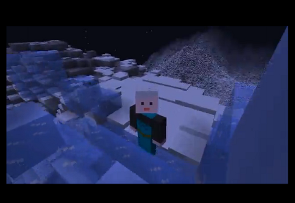 Let it Go Performed in Minecraft