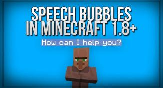 Add Speech Bubbles To Characters With This Redstone Trick