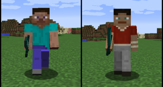Girly Man Arms For Steve May Be Future Minecraft Option