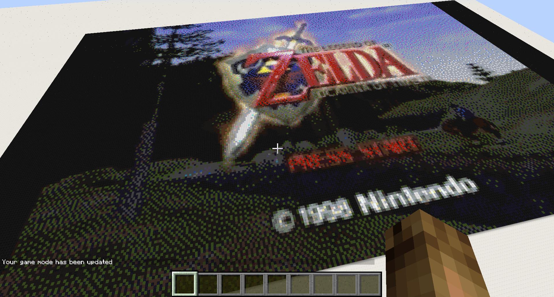 Legend of Zelda: Ocarina of Time Intro in Minecraft