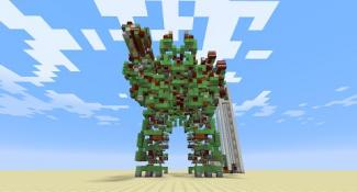 Rampage Through Minecraft in This Giant Battle Robot