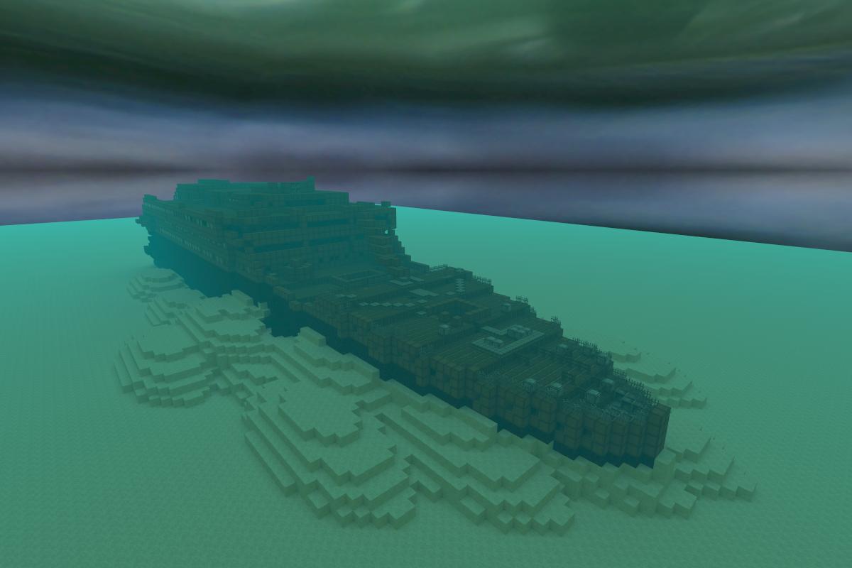 Sunken Titanic