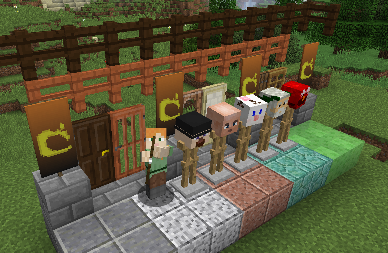 Minecraft bountiful update adds bunnies, banners and skinny arms.