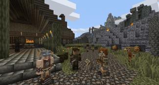 PlayStation Getting Minecraft Skyrim Mashup DLC