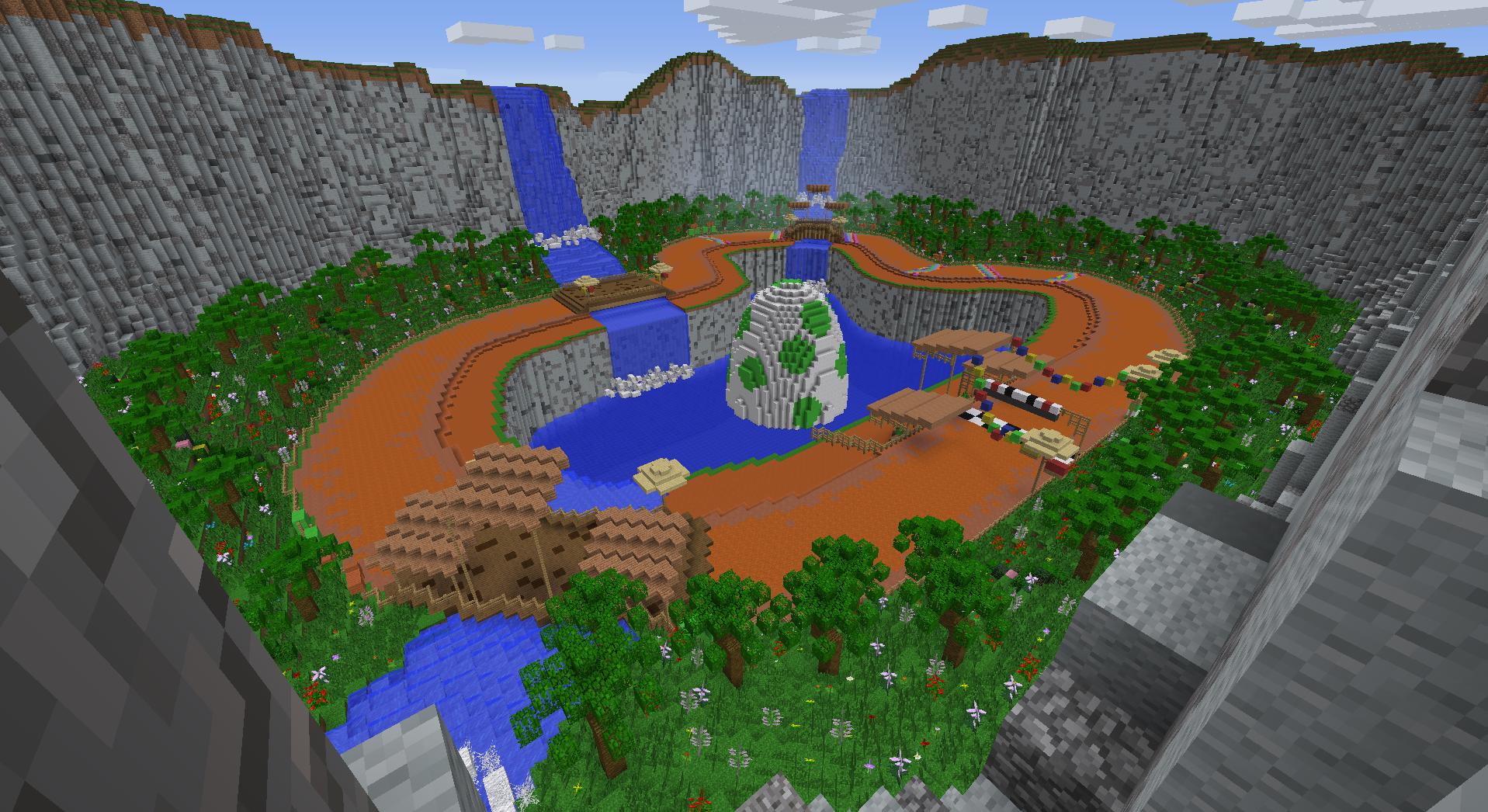 Yoshi Takes The Lead In This Minecraft Mario Kart Track Minecrafters - Descargar skins para minecraft pe yoshi