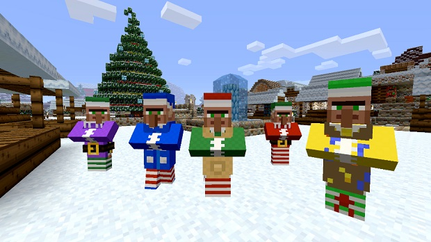 Christmas Minecraft Santa.Minecraft Christmas Mashup Pack Out Now On Xbox Minecrafters