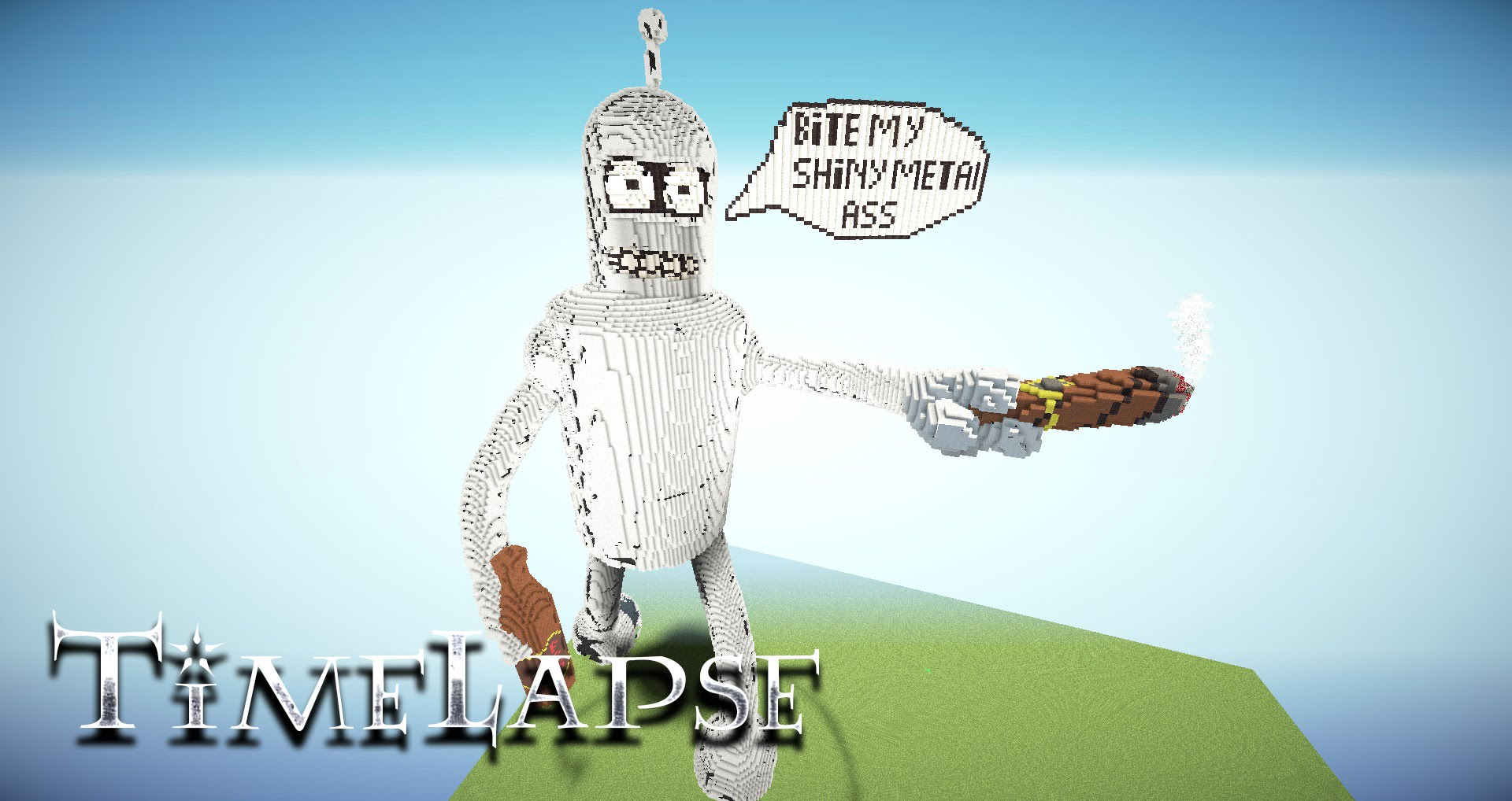 Futuramas Bender Is Impressively Large And Shiny In Timelapse Build
