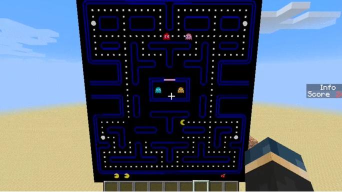 Pac-Man Remade Within Minecraft
