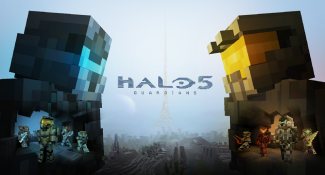 Worlds Of Minecraft And Halo Merge