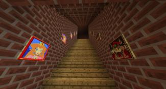 Mario 64's Hub World Recreated In Minecraft