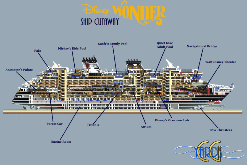 Minecrafter Creates Exact Replica Of Disney Cruise Ship Minecrafters - Diagram of a cruise ship